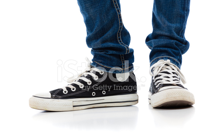 cd7c9d096984d Legs With Converse Tennis Shoes and Jeans Stock Photos - FreeImages.com
