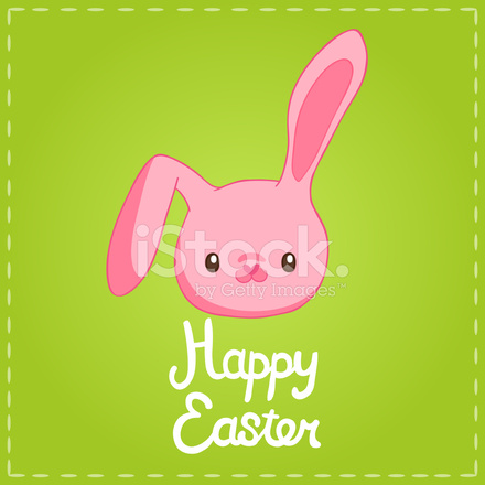 Sevimli çizgi Film Bunny Paskalya Arka Plan Stock Vector