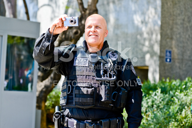 District Attorney Photographing IN Los Angeles Downtown