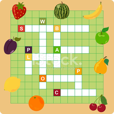 Fruit Crossword Stock Vector