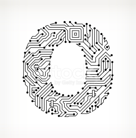 Letter O Circuit Board on White Background Stock Vector - FreeImages.com
