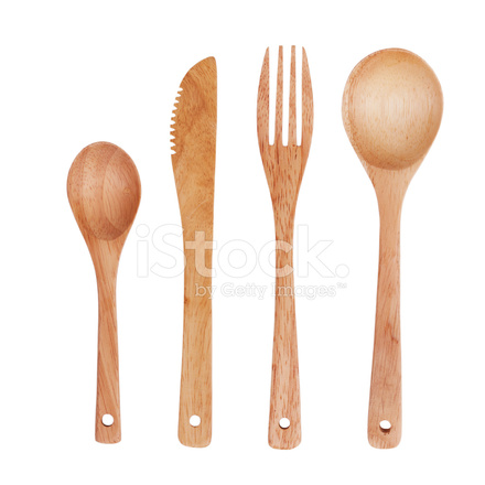 Spoon Fork And Knife Made Of Wood Stock Photos Freeimagescom