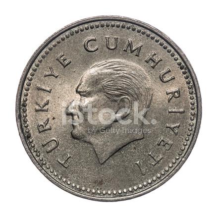 1000 Türkische Lira Münze Isoliert 1993 Stockfotos Freeimagescom