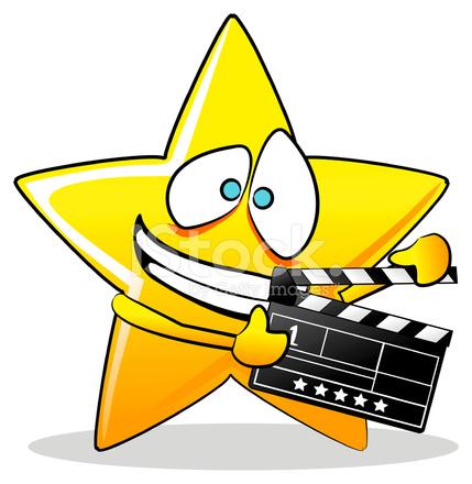 Dibujos Animados DE Estrella DE Cine fotografas de stock