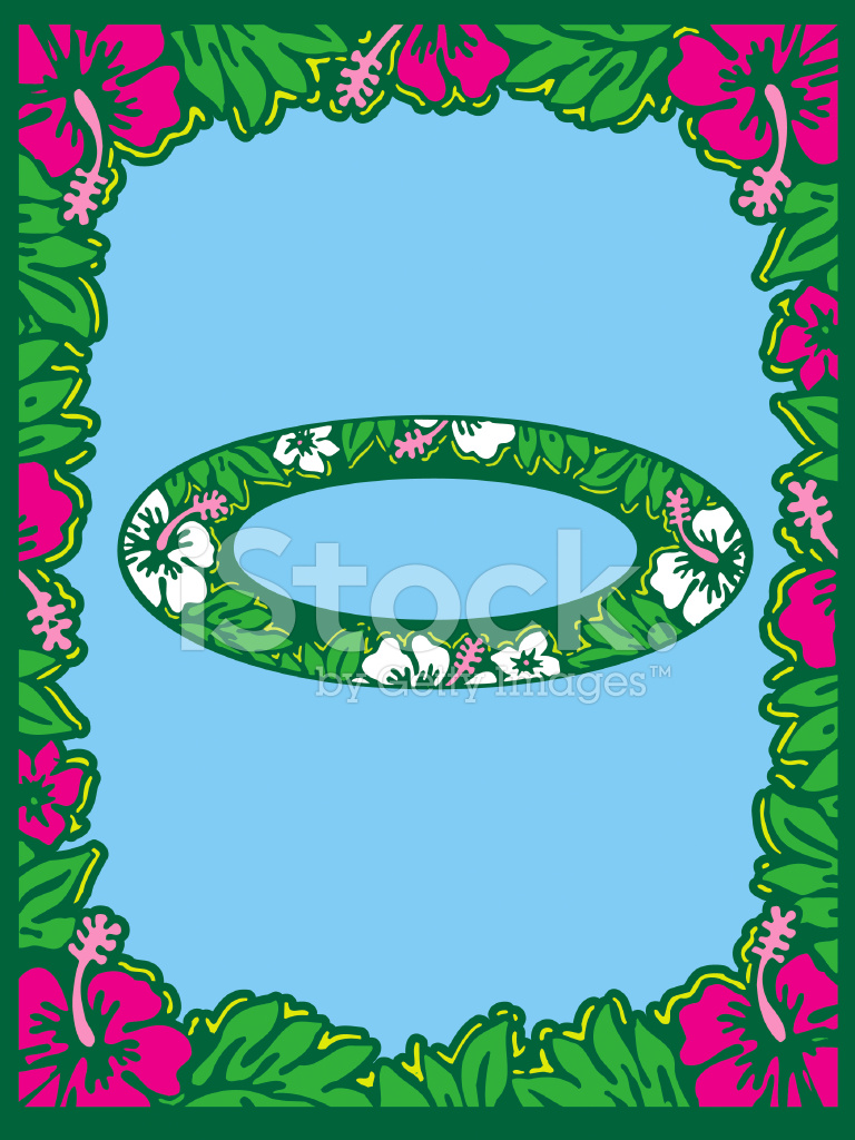Hibiscus Flower Border, Oval & Rectangle Stock Vector - FreeImages com