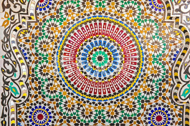 bright mosaic architectural detail from maroc stock photos
