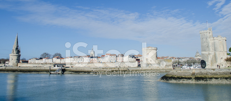 la rochelle old harbor france stock photos. Black Bedroom Furniture Sets. Home Design Ideas