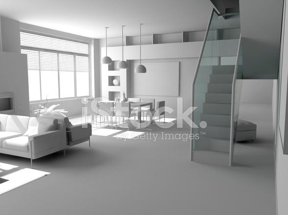 Arredamento moderno bianco fotografie stock freeimages.com
