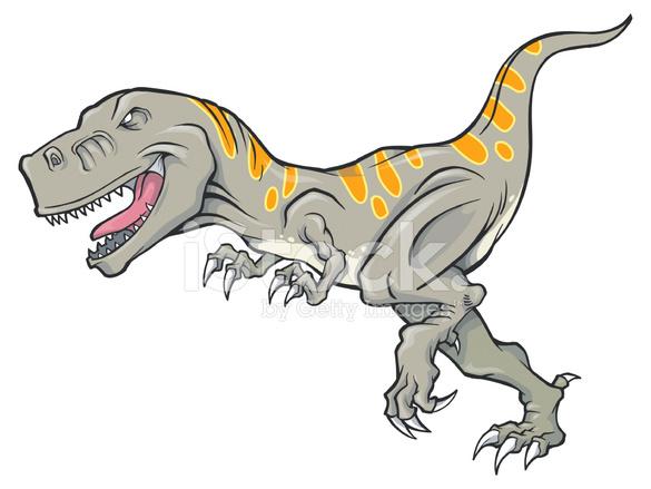Bir T Rex Dinozor Vektör çizim Stock Vector Freeimagescom