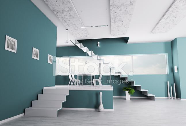 Innere Wohnung Mit Treppe Stockfotos Freeimages Com