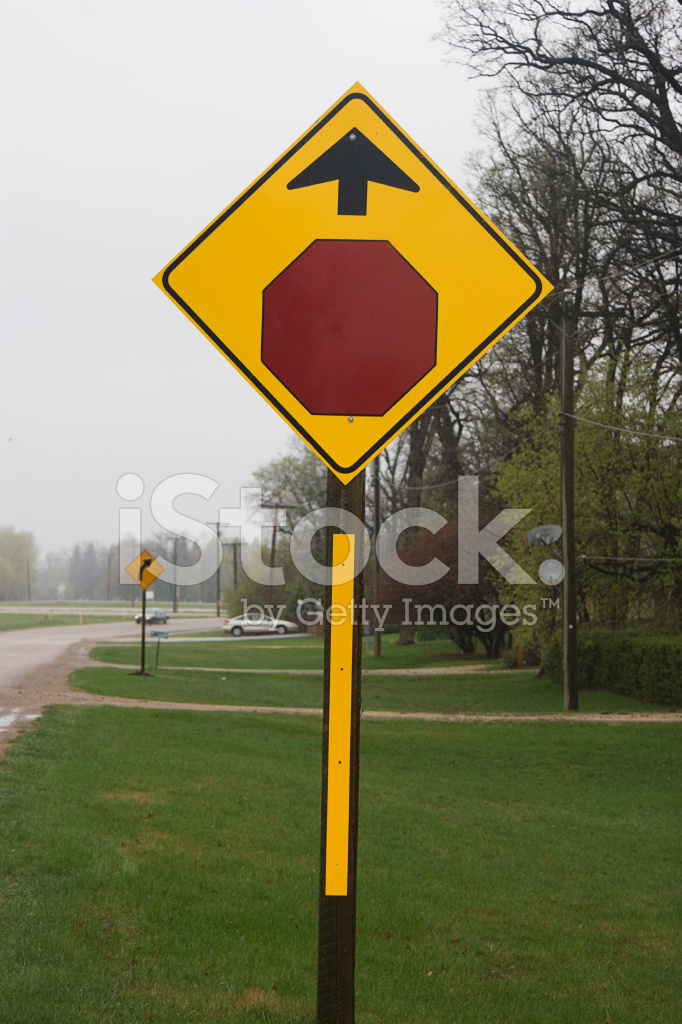Stop Sign Ahead Stock Photos - FreeImages.com