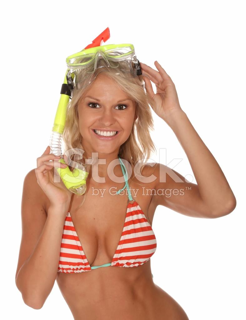 Bikini Girl With Scuba Mask Stock Photos Freeimages Com