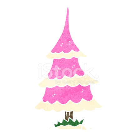 Rosa Weihnachtsbaum.Rosa Retro Cartoon Weihnachtsbaum Stock Vector Freeimages Com