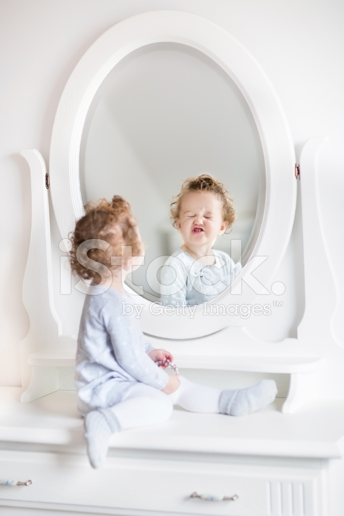 looking in mirror. Simple Mirror Very Funny Baby Girl Looking At Her Reflection In Mirror Intended Looking In Mirror I