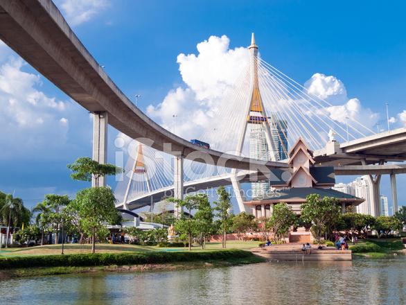 bhumibol bridge in thailand  stock photos freeimages com fitness clip art free funny fitness equipment clipart free