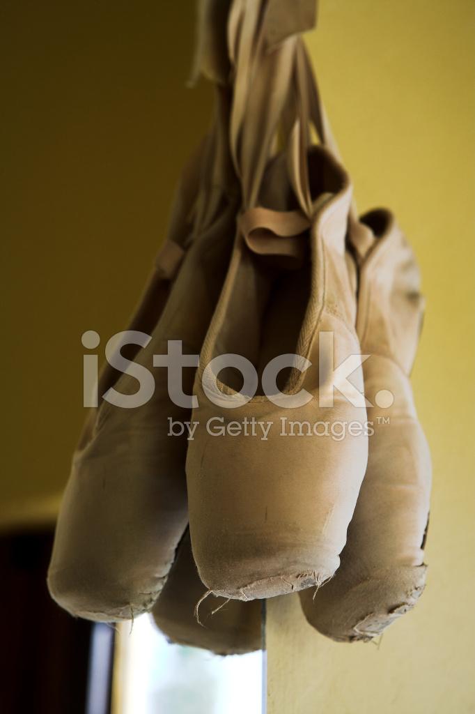 f7daf3de38ae Pointe Shoes Hanging Next TO Mirror Stock Photos - FreeImages.com