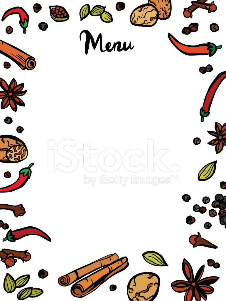 Stylish Spices Menu Template Stock Vector - FreeImages.com