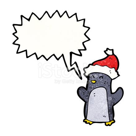 Cute Dibujos Animados De Pingüinos De Navidad Stock Vector