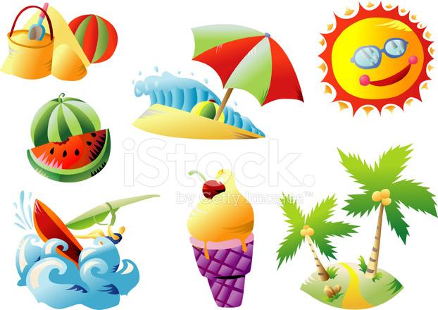 summer beach clip art stock vector freeimagescom