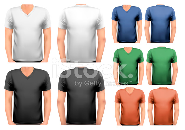 2f56596e8dd71 Camisetas DE Hombres DE Color Blanco Y Stock Vector - FreeImages.com
