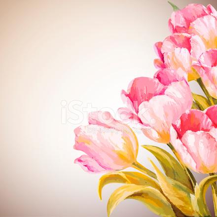 Cart 227 O De Modelo De Convite De Flores De Primavera Stock