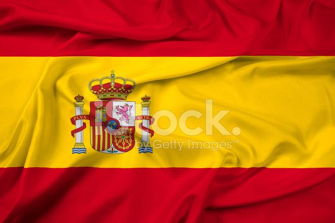 Viftar Spanien Flagga Stockfoton Freeimages Com