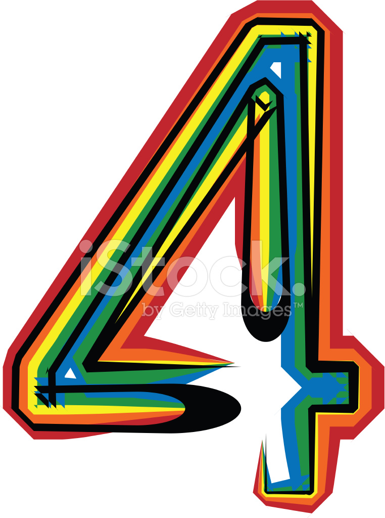 Colorful Number 4 Stock Photos FreeImagescom