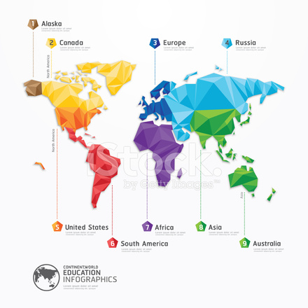 World map illustration infographics geometric concept design stock premium stock photo of world map illustration infographics geometric concept design gumiabroncs Images