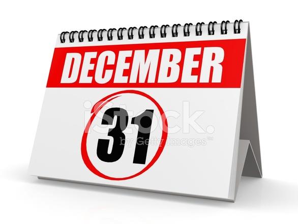 12 月 31 日カレンダー ストック...