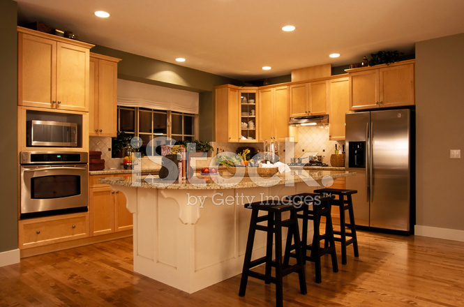 Modern Kitchen House Interior Stock Photos