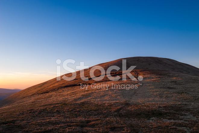 Engels Landschap Yorkshire Dales Bij Zonsondergang