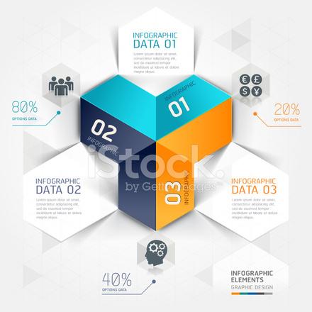 Moderne Business Infografiken Origami Stock Vector Freeimagescom