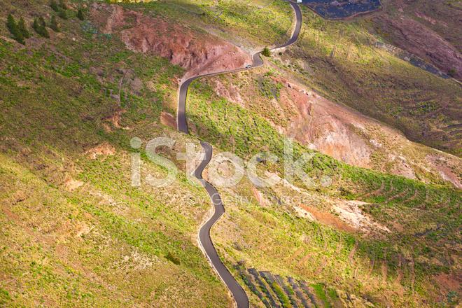 Paesaggio Lanzarote, Coltivazione A Terrazza Vicino Haria Fotografie ...