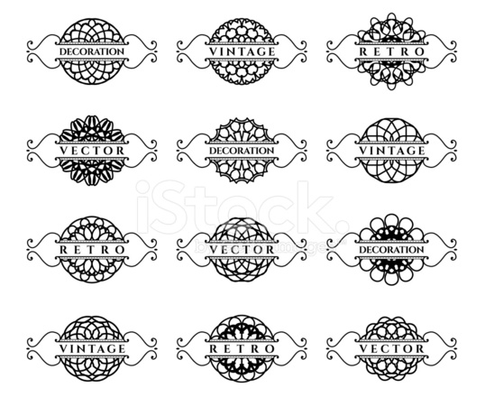 calligraphic design elements stock vector
