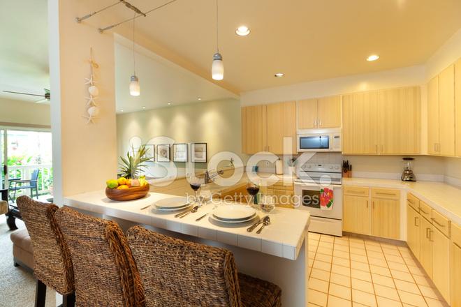 Moderna Cocina Y Living Comedor Con Diseño DE Concepto Abierto ...