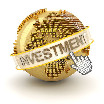 Global Investment Concept, Europe Region, 3d Render Stock Photos