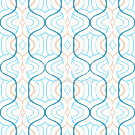 Vector Simple Moroccan Pattern In Blue And White Stock