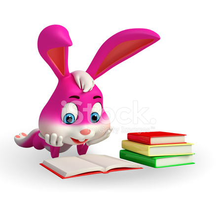 Easter Bunny Is Reading A Book Stock Photos Freeimages Com