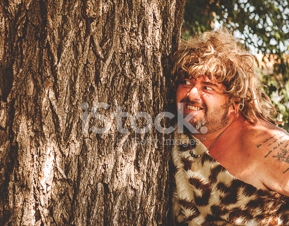Caveman Phone : Angry caveman outdoors stock photos freeimages.com