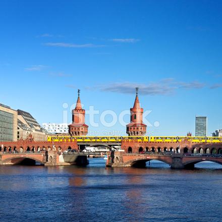 oberbaumbruecke bridge berlin stock photos. Black Bedroom Furniture Sets. Home Design Ideas