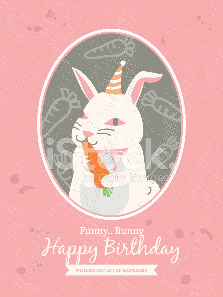 Premium Stock Photo Of Rabbit Cartoon Birthday Card Design
