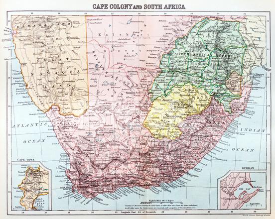 karta över södra afrika Antika Karta Över Sydafrika Stock Vector   FreeImages.com karta över södra afrika