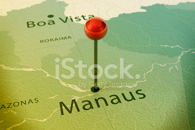 Manaus Map City Straight Pin Vintage Stock Photos - FreeImages.com
