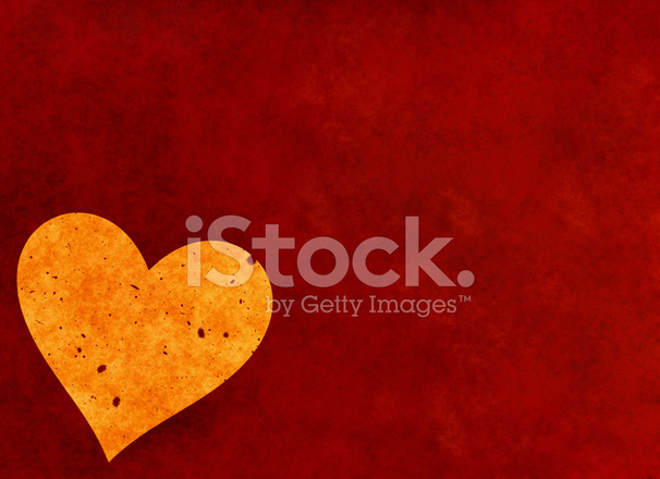 Big Heart On Red Textured Valentines Day Symbol Stock Photos