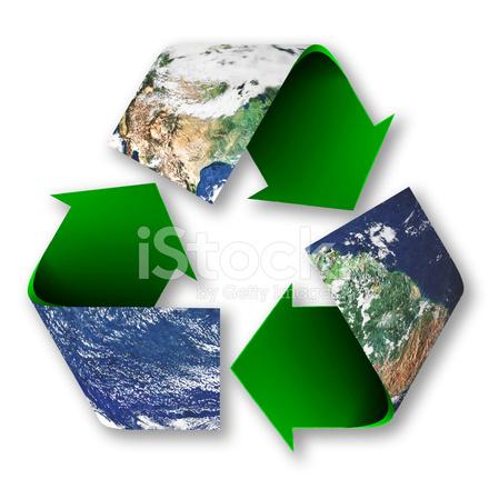 Recycle Symbool Van De Planeet Aarde Stockfotos Freeimages