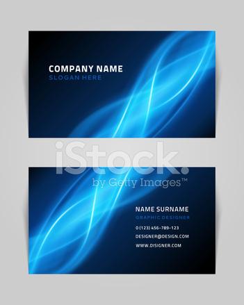 Vektor Abstrakte Kreative Visitenkarten Design Vorlage Stock