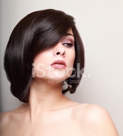 Sexy Woman With Short Black Hair Closeup Stock Photos Freeimages Com