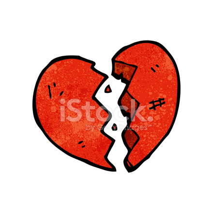 Broken Heart Symbol Stock Vector Freeimages