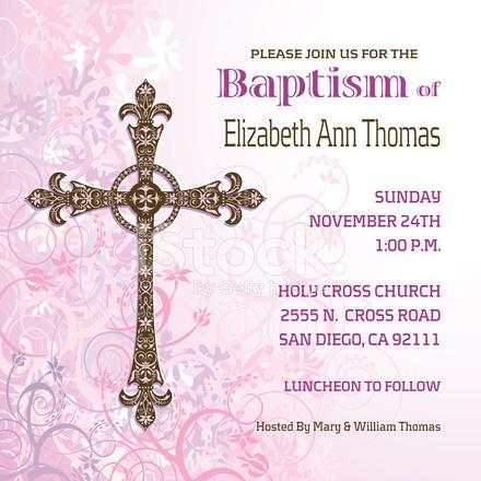 Girls baptisim invitation stock vector freeimages girls baptisim invitation stopboris Images