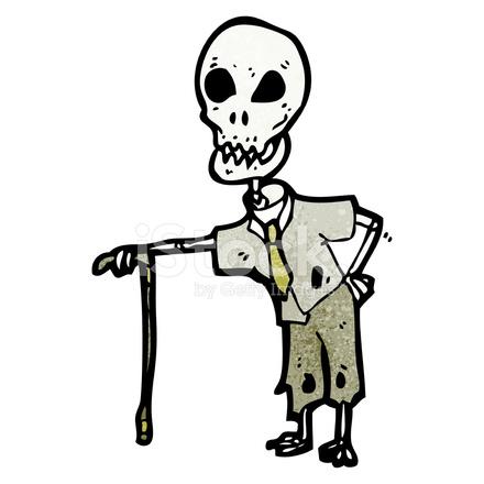 Tecknade Roliga Skelett Stockfoton Freeimages Com